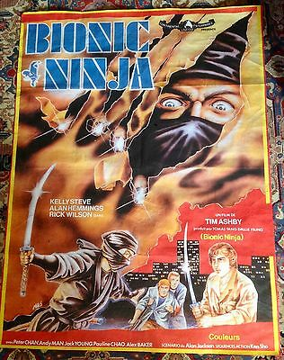 Bionic Ninja - Film by Tim Wilson 1986 Original French Movie Poster
