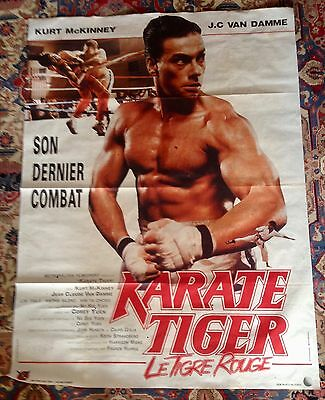 Karate Tiger - Le Tigre Rouge 1986 Original French Movie Poster Claude Van Damme