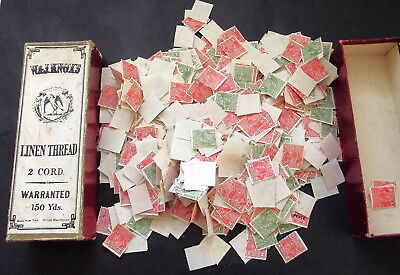 AUSTRALIAN 1d GREEN , 2d RED '' KGV's'' 100's IN OLD BOX