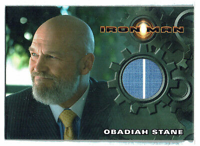 Iron Man 1st Movie Costume Card Jeff Bridges as Obadiah Stane Striped Shirt