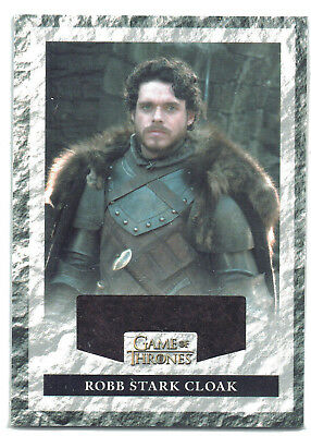 Game of Thrones Season 3 Relic Costume Card R1 Robb Stark Cloak #127/325