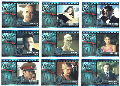 James Bond Die Another Day Complete Casting Call 12 Card Chase Set C1 to C12