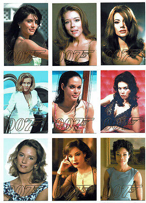James Bond Autographs & Relics Complete 9 Card Gold Gallery Chase Set GG39-GG47
