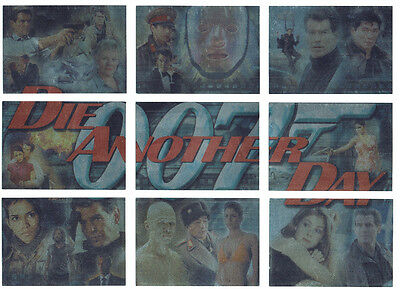 James Bond Die Another Day Complete Montage Foil Puzzle 9 Card Chase Set 1 to 9