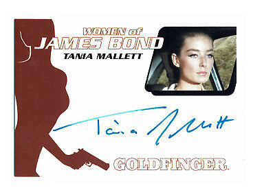 James Bond Archives 2014 Autograph Card WA45 Tania Mallett as Tilly Masterson