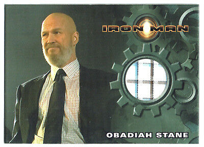 Iron Man 1st Movie Costume Card Jeff Bridges as Obadiah Stane Checked Shirt