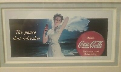 "Vintage COCA-COLA (Coke) Unused Blotter - ""The pause that refreshes"""