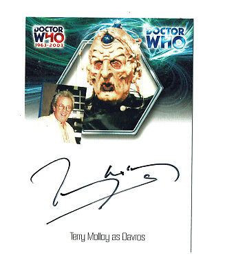 Doctor Who 40th Anniversary Autograph Card WA10 Terry Molloy as Davros