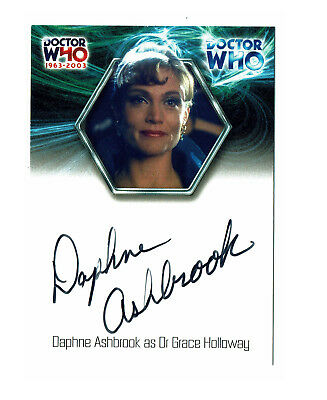 Doctor Who 40th Anniversary Autograph Card WA2 Daphne Ashbrook as Grace Holloway