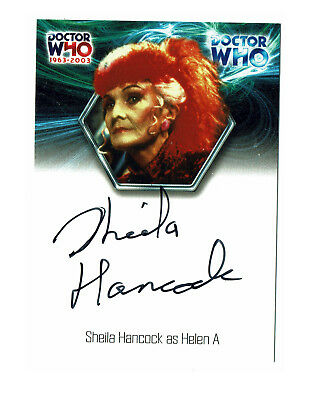 Doctor Who 40th Anniversary Autograph Card WA14 Sheila Hancock as Helen A
