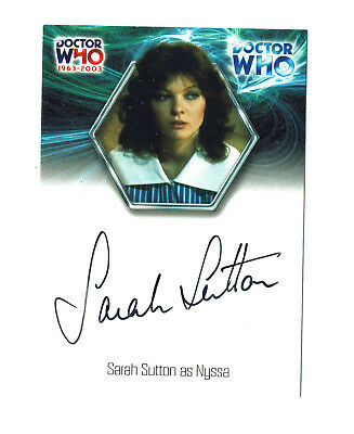 Doctor Who 40th Anniversary Autograph Card WA16 Sarah Sutton as Nyssa