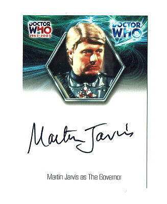 Doctor Who 40th Anniversary Autograph Card WA13 Martin Jarvis as The Governor