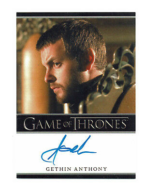 Game of Thrones Season 2 Autograph Card Gethin Anthony as Renly Baratheon