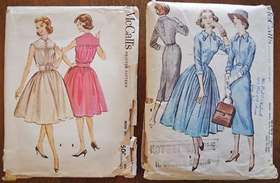Lot of 2 Vintage 1950s McCall's Sewing Patterns, B36,1 dfgfhdvfdhg