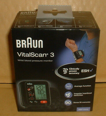 Braun Vitalscan 3 Wrist Blood Pressure Monitor  Brand New Boxed