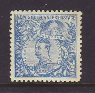 NSW 1890 20/- Cobalt-Blue with Perfect Centring MLH, SG 264