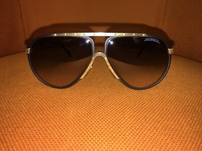 Alpina M1 Black With Gold Metal Detail Sunglasses 226626