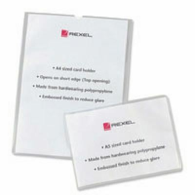 Rexel Clear Polypropylene Card Holders A4 (Pack of 25) 12092 [RX12092]