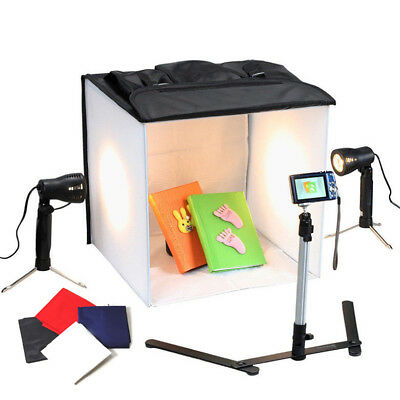 "16"" Photo Studio Cube Soft Box Light Tent Softbox Lighting w/ Camera Tripod Kit"