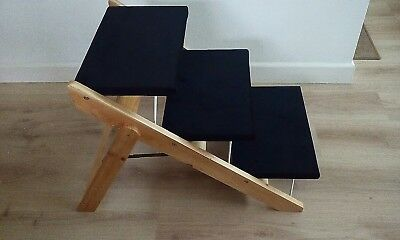 Pet Stairs Folding Convertible Indoor Outdoor Steps Ramp Dog - used