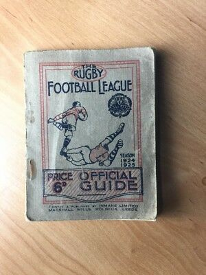 The Rugby Football League Official Guide 1924-25 Annual Very Rare