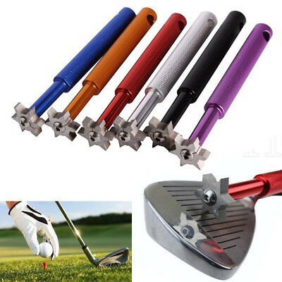 6 Cutters Golf Club Groove Sharpener Cleaner Re-grooving Tool For V U Square