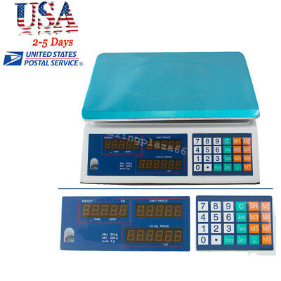 Digital Weight Scale Price Computing Food Meat Scale Produce Deli Indutrial USA