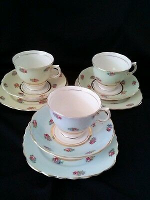 Vintage Colclough China Trios