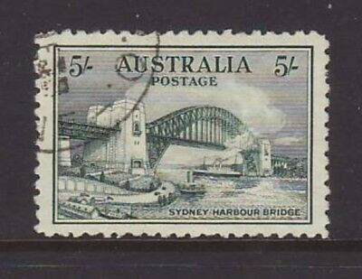 1932 5/- Green Harbour Bridge Beautifully Centred CTO, NO FAULTS.