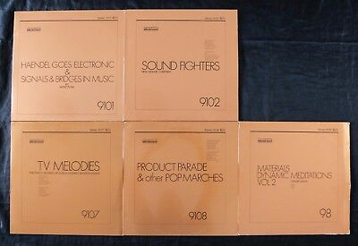 X5 Selected Sound Library Music LP Vinyl Record Collection Rare Mood Production