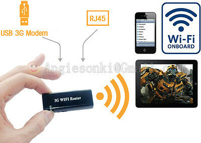 Mini Portable 3G/4G Wireless-N USB WiFi Hotspot Router AP 150Mbps Wlan