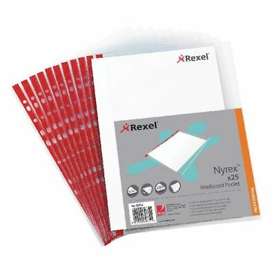 Rexel Nyrex Pocket PVC Open Side Clear (Pack of 25) Foolscap R149L  [RX12263]