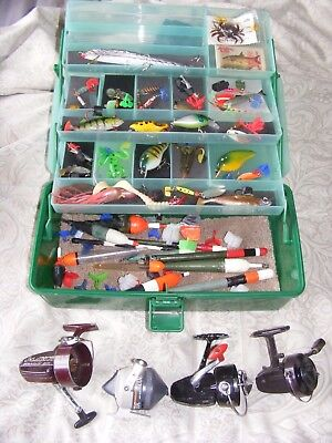 Fishing Tackle Carp Pike Coarse Lures Reels Etc Used Job Lot