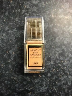 Max Factor Healthy Skin Harmony Miracle Foundation Bronze 80.Full Size 30ml.
