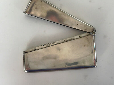 Solid silver curved card case circa 1900