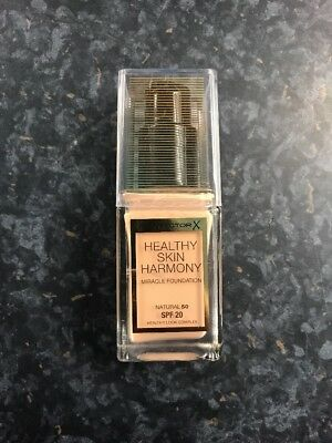Max Factor Healthy Skin Harmony Miracle Foundation Natural 50.Full Size 30ml.