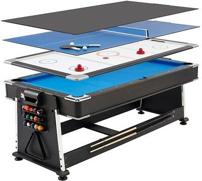 MightyMast Leisure Revolver 7ft 3-in-1 Multigames Table