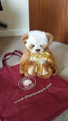 Jasmine Charlie Bear New With Tags And Bag