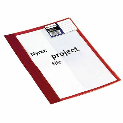 Rexel Nyrex A4 Red Project File Pack of 5 13045RD [RX13045R]