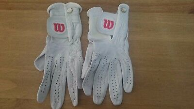 2 x Wilson Golf Gloves Ladies Small . Left hand for Right handed golfer . Freepo