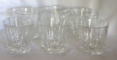 Set of 6 crystal/cut glass whisky tumblers glasses heavy