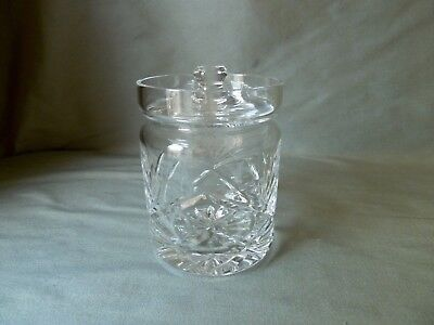 Royal Brierley Crystal Braemar Cut Jam Pickle Jar , Not Signed, VGC