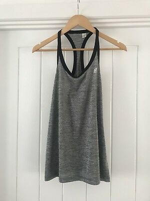 Adidas Climate Grey Womens Racer Back Sport Gym Top Size 12 Brand New Never Worn