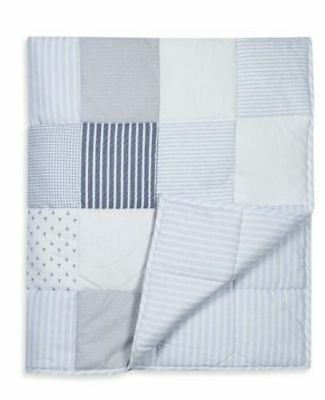 New Next Blue White Ocean Days Soft Touch Baby Quilt Nursery Cot Bed Cotbed 4Tog