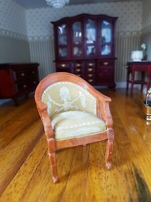 Dolls house furniture, Resin chair.