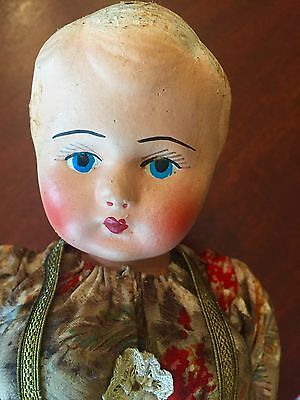 Vintage German? Austrian? Scandinavian? FOLK ART DOLL- ANTIQUE