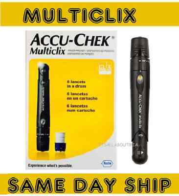 GENUINE NEW in Box Accu-Chek Multiclix Lancing Device & 12 Sealed Lancets