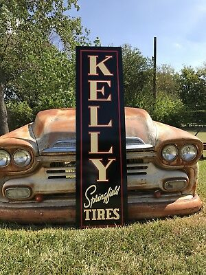 "Antique Vintage Old Style Kelly Springfield Tires Sign 60""!!"