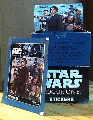 LOT 50 paquets STICKERS STAR WARS ROGUE ONE