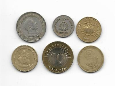 Lote monedas  CONMEMORATIVAS  INDIA / Lot COMMEMORATIVE  coins